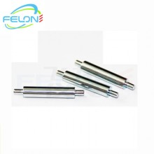 专业定制加工非标不锈钢滚花搓牙研磨开口带孔直线光轴销钉活塞杆