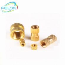 定制各种规格螺纹滚花铜螺母镶块注塑卡件 车床加工铜件